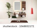 modern wood design bath and...   Shutterstock . vector #1068832172