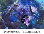 oil blue and violet colors on... | Shutterstock . vector #1068838376