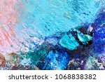 oil green and pink colors on... | Shutterstock . vector #1068838382