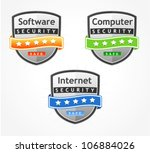 different review badges   Shutterstock .eps vector #106884026