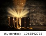 image of mysterious opened old... | Shutterstock . vector #1068842738