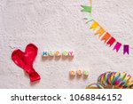 happy day with copy space | Shutterstock . vector #1068846152