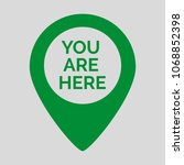 marker location icon with you... | Shutterstock .eps vector #1068852398