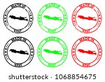 made in java   rubber stamp  ... | Shutterstock .eps vector #1068854675