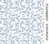 seamless swirly flowers pattern.... | Shutterstock .eps vector #1068864512