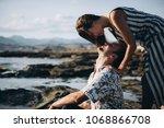 engagement photoshoot for... | Shutterstock . vector #1068866708