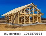 the beginning of the cottage... | Shutterstock . vector #1068870995