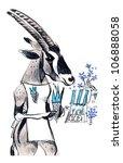 goat | Shutterstock . vector #106888058