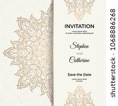 save the date invitation card... | Shutterstock .eps vector #1068886268