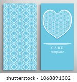 set of decorative cards with...   Shutterstock .eps vector #1068891302
