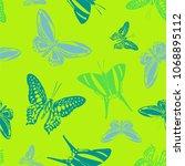 beautiful seamless butterfly... | Shutterstock .eps vector #1068895112