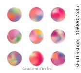 round gradient set of vibrant... | Shutterstock .eps vector #1068907535