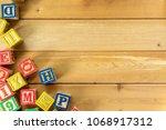 close up arrangement of... | Shutterstock . vector #1068917312
