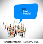 a large group of people gather... | Shutterstock .eps vector #106892456
