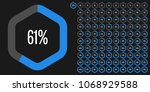 set of hexagon percentage... | Shutterstock .eps vector #1068929588