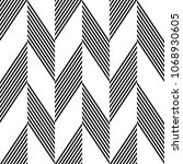 seamless zigzag pattern.... | Shutterstock .eps vector #1068930605