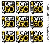 1 2 3 4 5 6 7 8 9 days to go....   Shutterstock .eps vector #1068931892