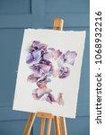 art class and speed painting... | Shutterstock . vector #1068932216