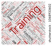 vector conceptual training ... | Shutterstock .eps vector #1068933602
