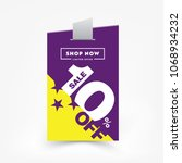 10  off sale label price tag.... | Shutterstock .eps vector #1068934232