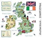 cartoon vector map of united...   Shutterstock .eps vector #1068935966
