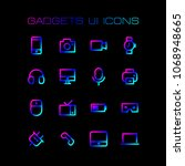 gadgets ui icons set for simple ...