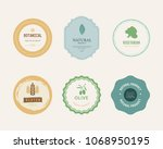 natural and organic element... | Shutterstock .eps vector #1068950195