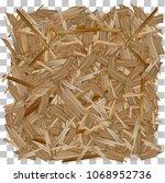 vector wood. pressed wooden... | Shutterstock .eps vector #1068952736