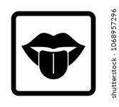 tongue vector icon. | Shutterstock .eps vector #1068957296