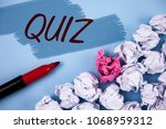 text sign showing quiz.... | Shutterstock . vector #1068959312
