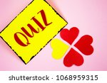 writing note showing  quiz.... | Shutterstock . vector #1068959315