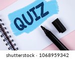 text sign showing quiz.... | Shutterstock . vector #1068959342