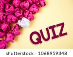 word writing text quiz.... | Shutterstock . vector #1068959348