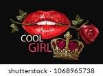 embroidery female sexy gloss... | Shutterstock .eps vector #1068965738