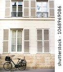 vintage parisian street photo... | Shutterstock . vector #1068969086
