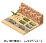military army low poly of base...   Shutterstock .eps vector #1068971846