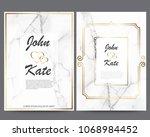 elegant creative business cards ... | Shutterstock .eps vector #1068984452