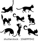 Stock vector cat set 106899542