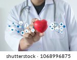medicine heart medicine doctor  ... | Shutterstock . vector #1068996875