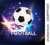 football ball on the light... | Shutterstock .eps vector #1068999365