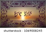 boho style graphic elements.... | Shutterstock .eps vector #1069008245