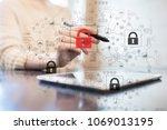 cyber attack detection....   Shutterstock . vector #1069013195