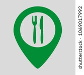 map marker location with fork... | Shutterstock .eps vector #1069017992