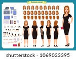 girl in evening dress character ... | Shutterstock .eps vector #1069023395