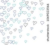 hand drawn hearts. background.  ...   Shutterstock .eps vector #1069023566