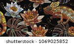 classical embroidery vintage... | Shutterstock .eps vector #1069025852