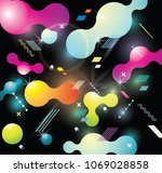 abstract  background with... | Shutterstock .eps vector #1069028858
