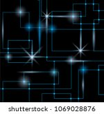 abstract energy lines with... | Shutterstock .eps vector #1069028876