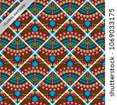 seamless pattern tile | Shutterstock .eps vector #1069033175
