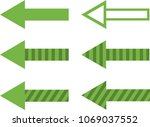 set of filled  striped and... | Shutterstock .eps vector #1069037552